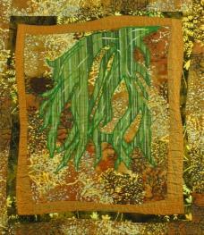"Small Quilt - Ferns - 19""x22"" - $210"
