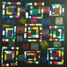 "Black Silk Squares - 35"" x 35"" - $615"