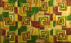 "Broken Squares - 43.75"" x 27"" - $590"