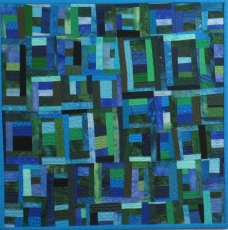 "Small Quilt - The Blues - 17"" x 17"" - $145"