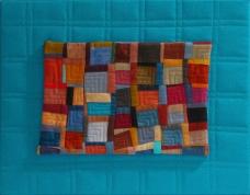 """Small Quilt - Blue Blocks - 13.5"""" x 10.5"""" - $140"""