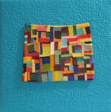 """Small Quilt - Blue Maze - 14.5"""" x 14.5"""" - $210"""