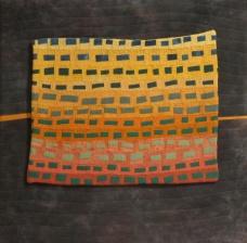 "Small Quilt - Green Rhythms - 18"" x18"" - $324"