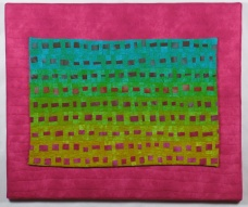 "Small Quilt - Small Underwater - 24"" x 20"" - $375"