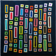 "Small Quilt - At the Museum II - 24""x24"" - Sold"