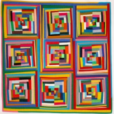 """Colourful 9 Patch - 34"""" x 34"""" - $580"""