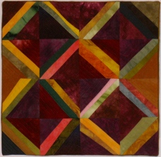 "Small Quilt -Big Triangles - 13"" x 13"" - $85"