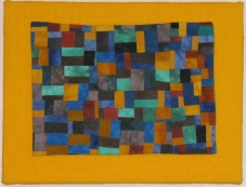 Small Quilt - Turquoise Blocks – 16″ x 12″ – $190