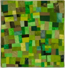 """Small Quilt - Green Maze - 17"""" x 18"""" - $305"""