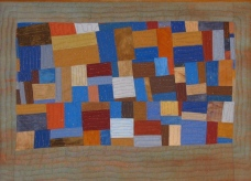 "Small Quilt - Rusty Blues - 15.75"" x 11.25"" - $177"