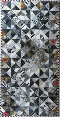 "Black & White Circles - 26"" x 52"" - $675"
