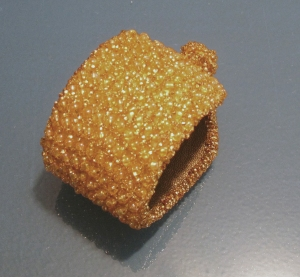 Soft Gold Beaded Cuff - $75