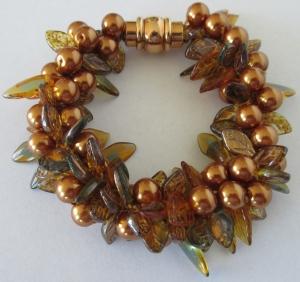 Bronze Pearls & Leaves $80.00