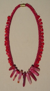 Red Stones & Bamboo Beads